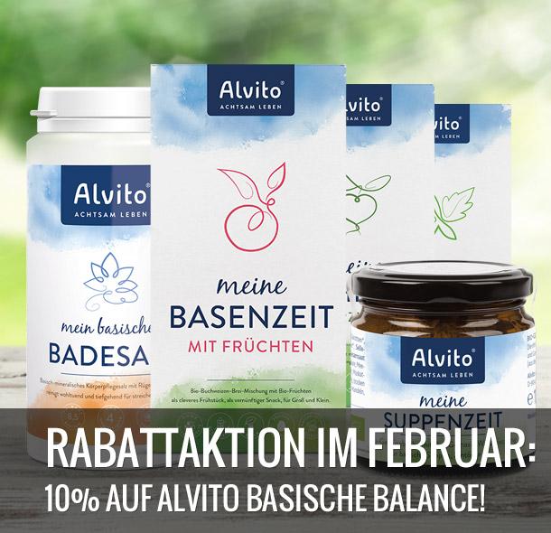 10% auf Alvito - basische Balance