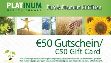 50 € Platinum Gutschein