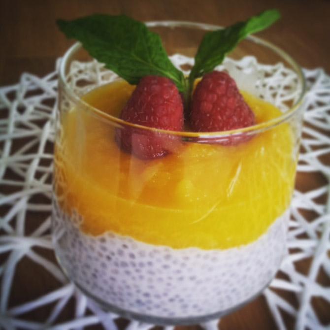 Chia-Mandel Pudding Rezept