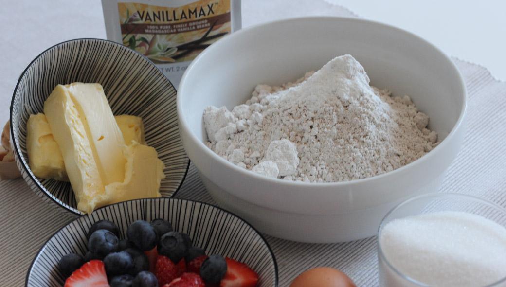 Glutenfreier Beeren-Cookie Zutaten