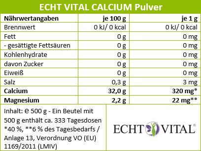Calcium Pulver