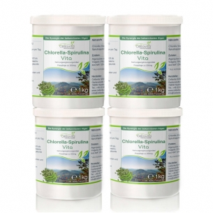 ChlorellaVita Presslinge Vorsorge-Paket 4 x 1kg von Cellavita