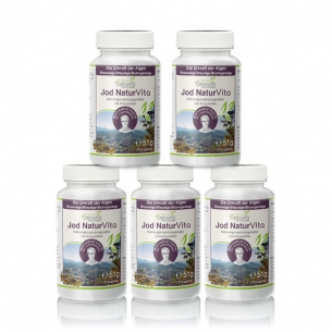 Jod Natur Vita - Vorsorgepaket - 5 x 120 Kapseln von Cellavita