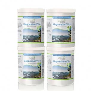 MagnesiumVita (100%) Vorsorgepaket 4 x 1kg von Cellavita