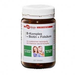 B-Komplex + Biotin + Folsäure Hefetabletten von Dr. Wolz