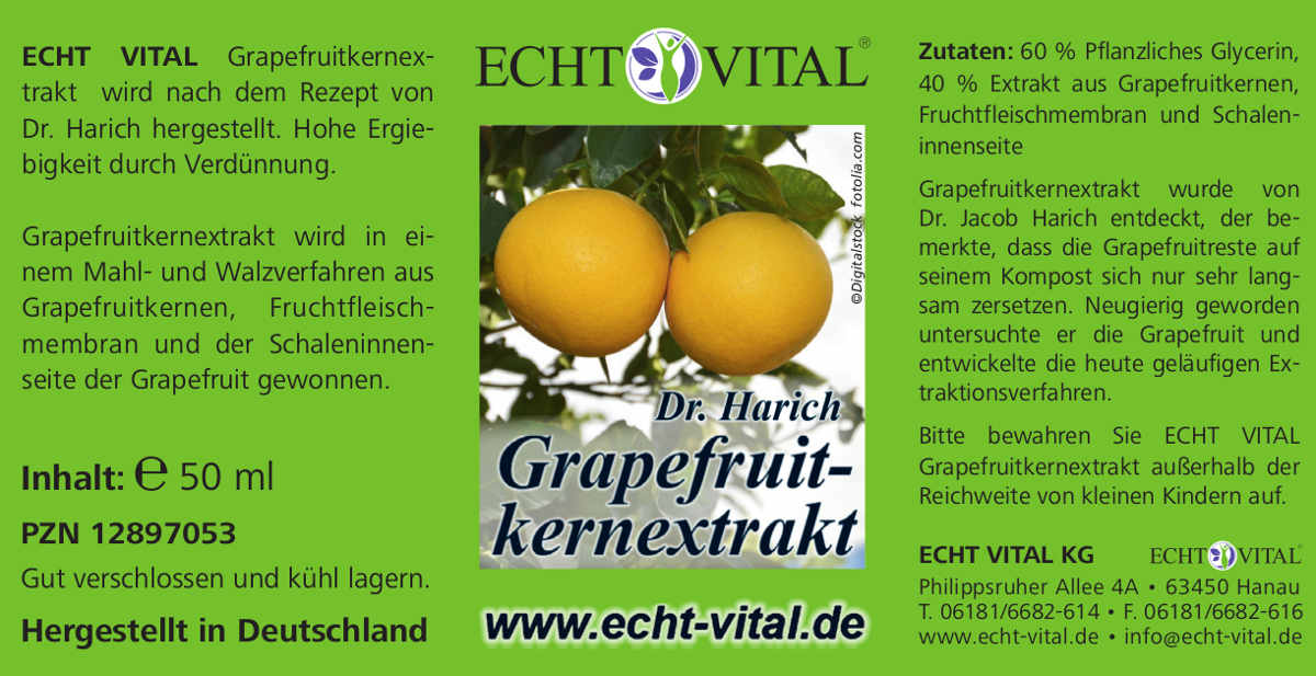 grapefruitkern extrakt von echt vital 50ml. Black Bedroom Furniture Sets. Home Design Ideas