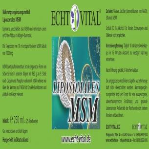 LIPOSOMALES MSM von ECHT VITAL