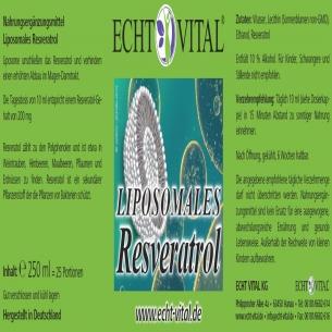 LIPOSOMALES RESVERATROL von ECHT VITAL